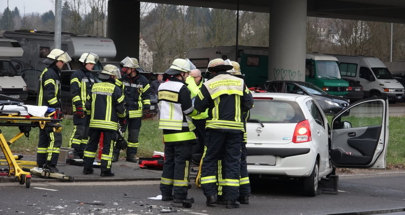 Unfall In Wiesbaden-Biebrich