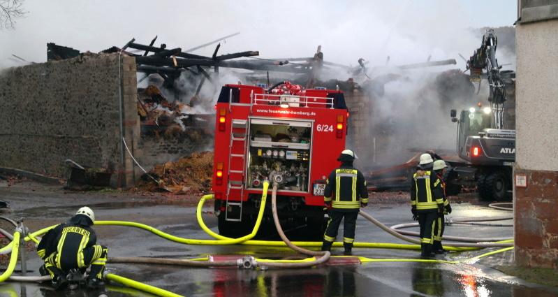hombergshausen Scheunenbrand 24112016